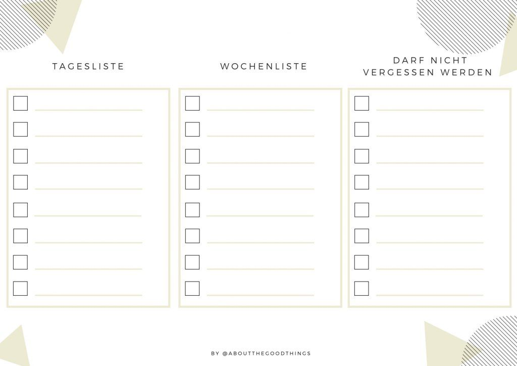To-Do Liste - 8 Tipps für eine gut strukturierte To-Do Liste - aboutthegoodthings.de
