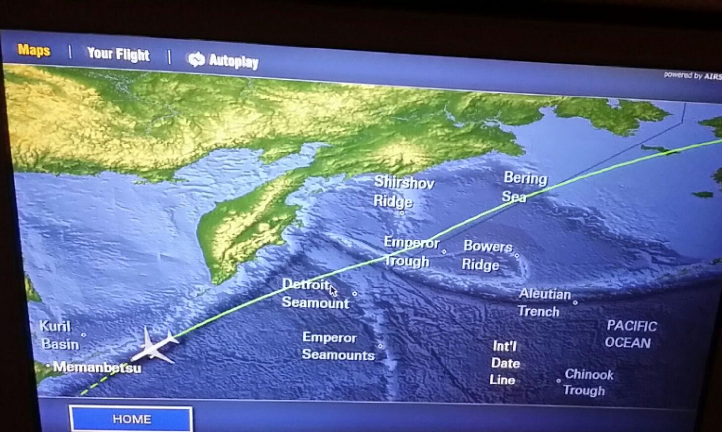 Flight map of a 16 hour flight from john f kennedy international flight map of a 16 hour flight from john f kennedy international airport straight to narita international publicscrutiny Gallery