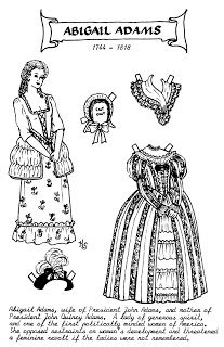 Mostly Paper Dolls Too!: ABIGAIL ADAMS Paper Doll by Kay