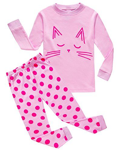 christmas cats clothing family feeling little girls cat sleepwears toddler cotton pajamas sets pjs