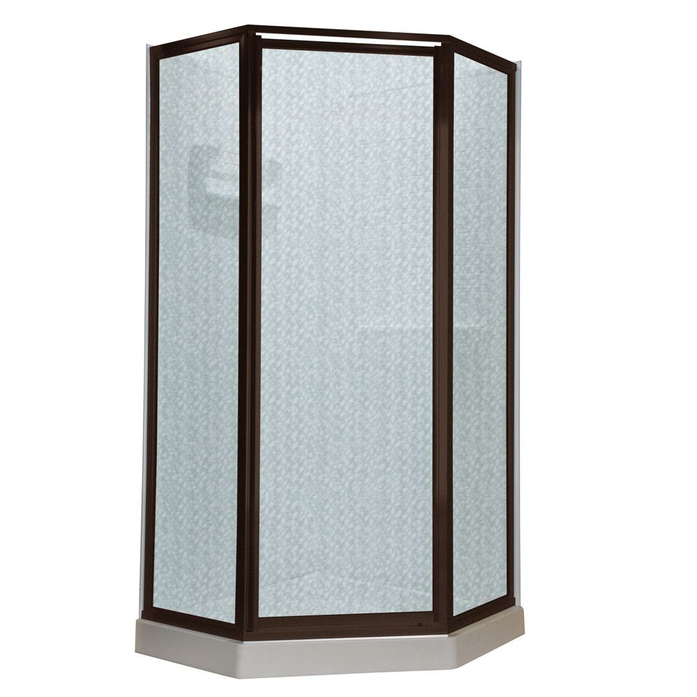 American Standard Neo Angle Hammered Shower Door & Reviews | Wayfair ...
