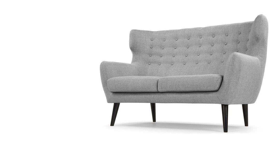 Kubrick 2 Sitzer Sofa Perlgrau Made Com 2 Sitzer Sofa Sofa Sofa Sessel