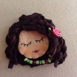 partyandcraft, Brooches, pin, doll, felt