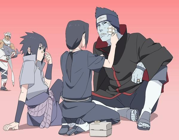 I Don T Even Know What To Say About This Picture It S Just Kind Of Cute Itachi Kisame Sasuke Killerbee Naruto Shippuden Anime Itachi Anime Naruto