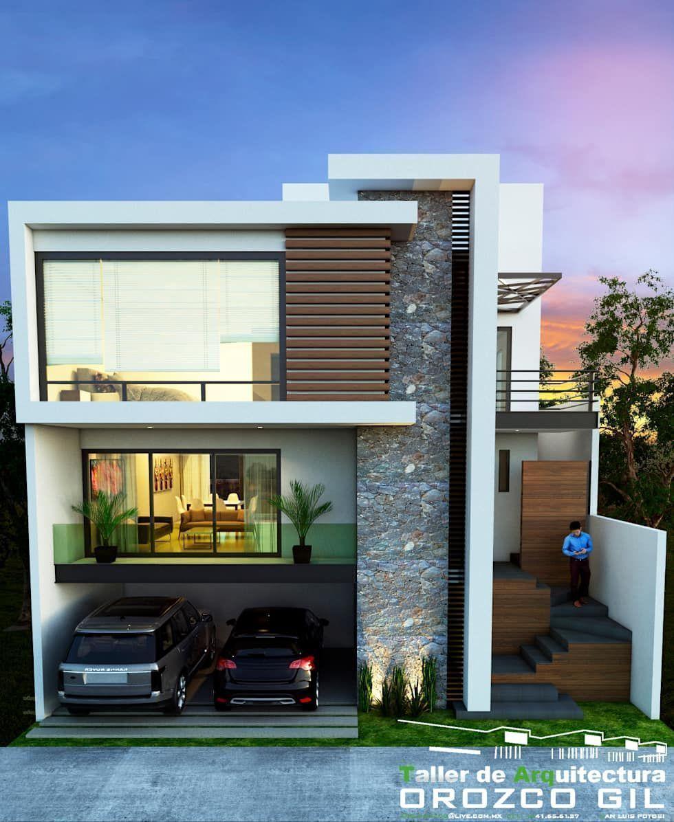Casa cadena casas de estilo minimalista por orozco gil for Casa minimalista