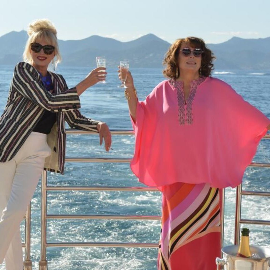 edina and patsy will wear vivienne westwood and shrimps in ab fab: the movie http://ift.tt/1Msvl4l #iD #Fashion