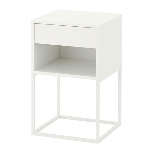 IKEA - VIKHAMMER Nightstand white in 2019 | Products | Bedside table ikea, White nightstand, Ikea nightstand