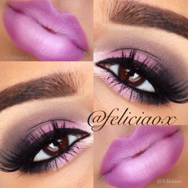 Pretty in pink smokey eye and ombré lip