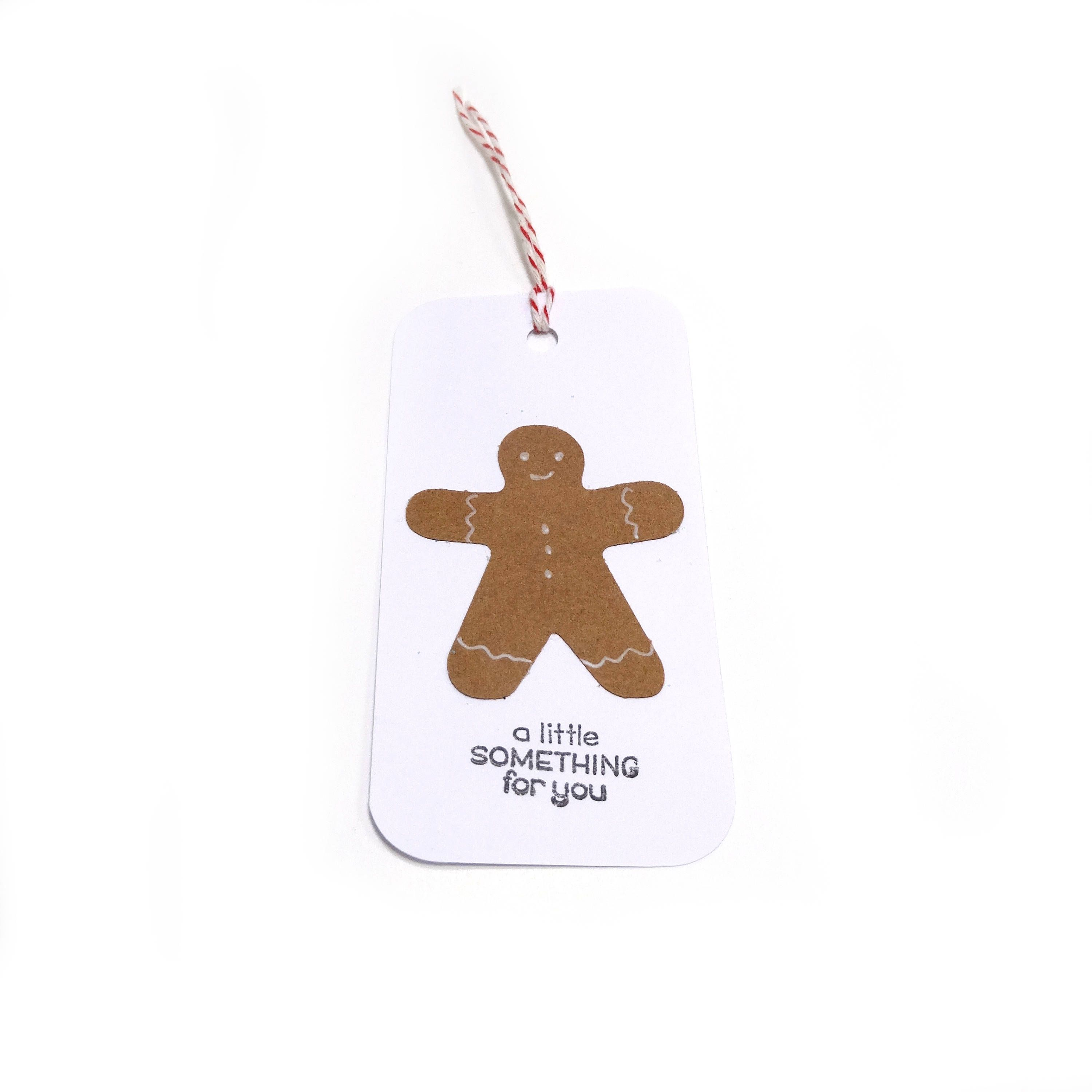 Gingerbread Man Gift Tag - Set Of 5