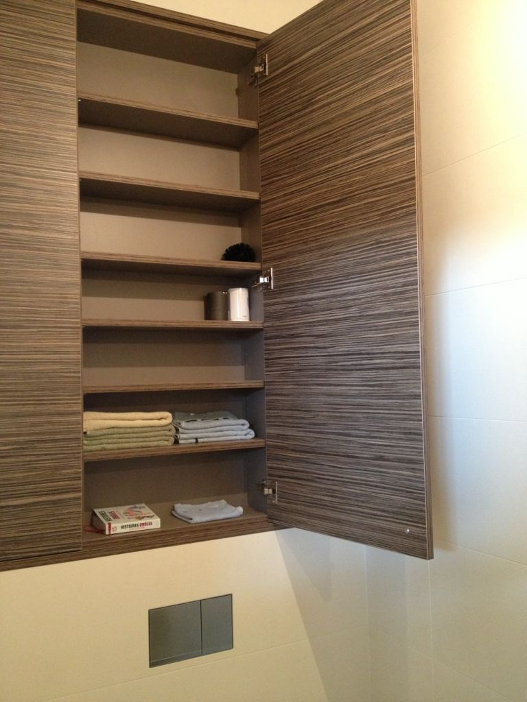 Kast boven inbouwtoilet functioneel met verstelbare for Spiegel boven bed