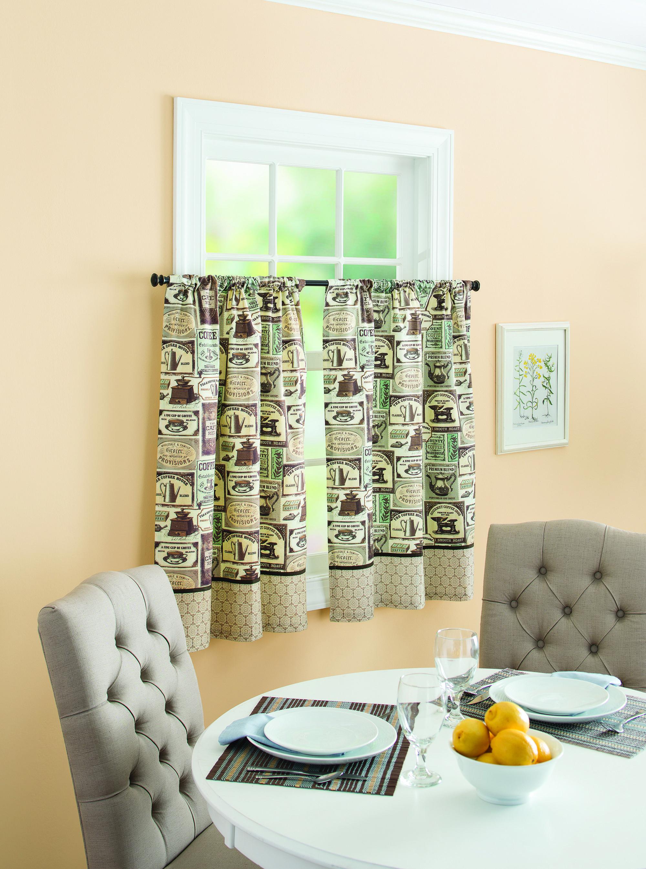Better Homes and Gardens Fresh Brewed Kitchen Kitchen Curtains ...