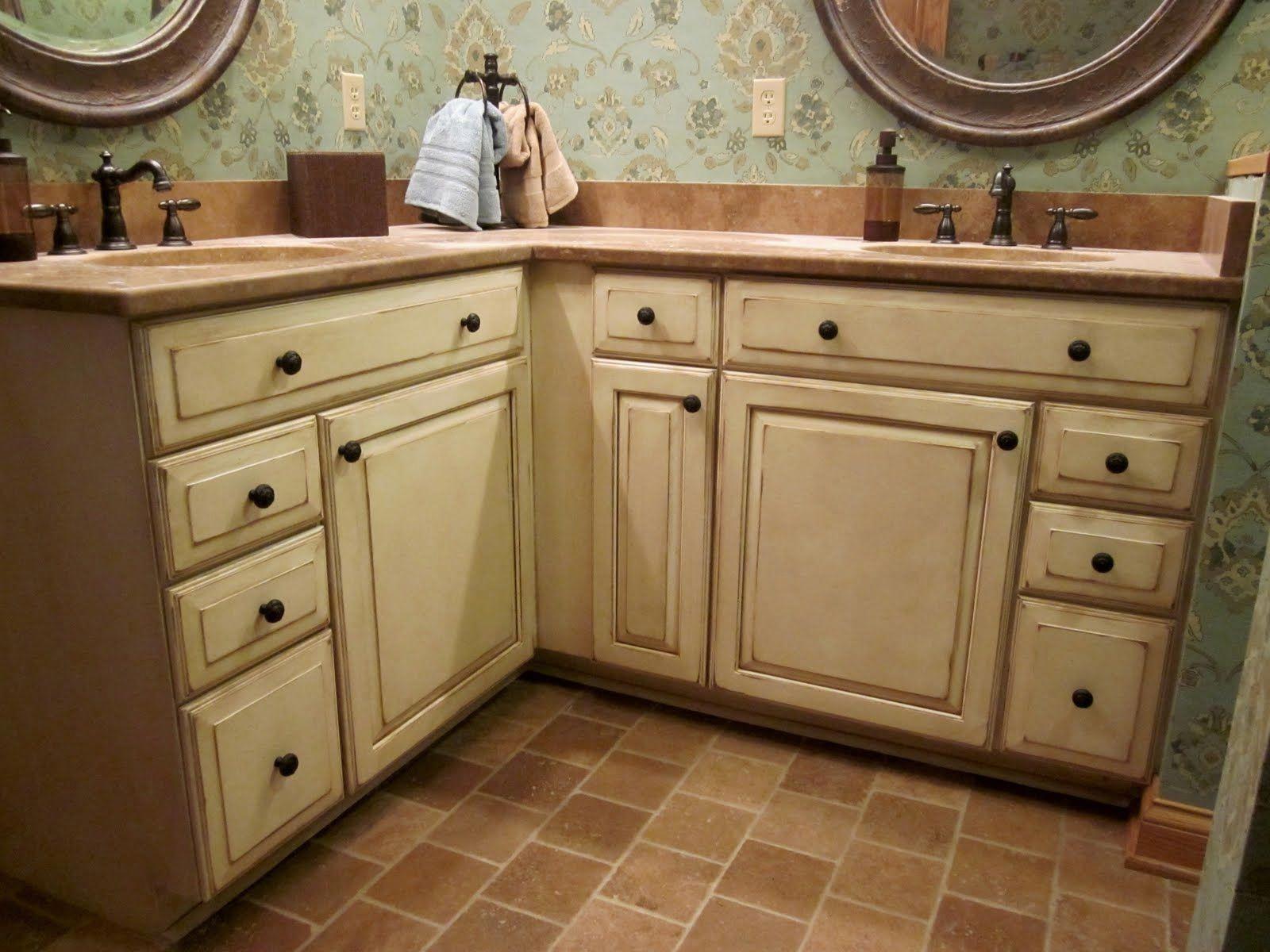 Cool antique kitchen cabinets   Distressed kitchen ...