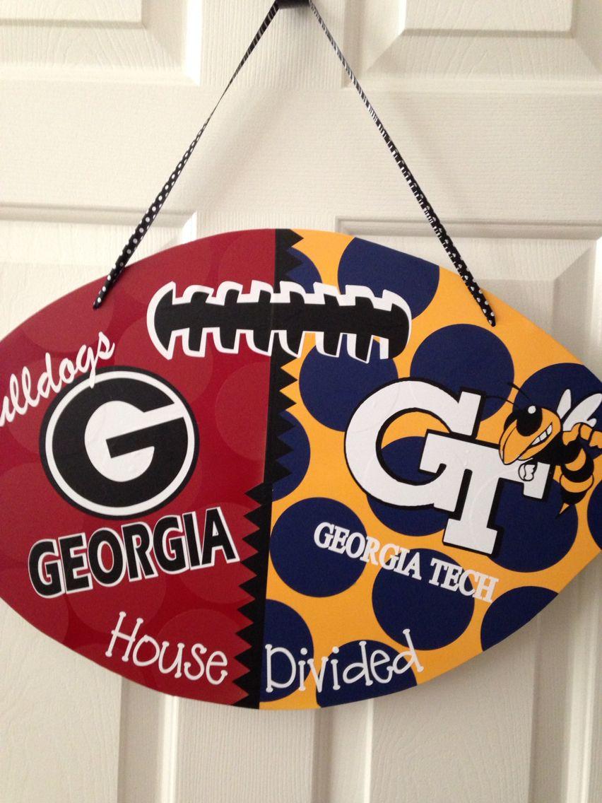 House Divided Football Door Hanger & House Divided Football Door Hanger | The Paisley Petal | Pinterest ...