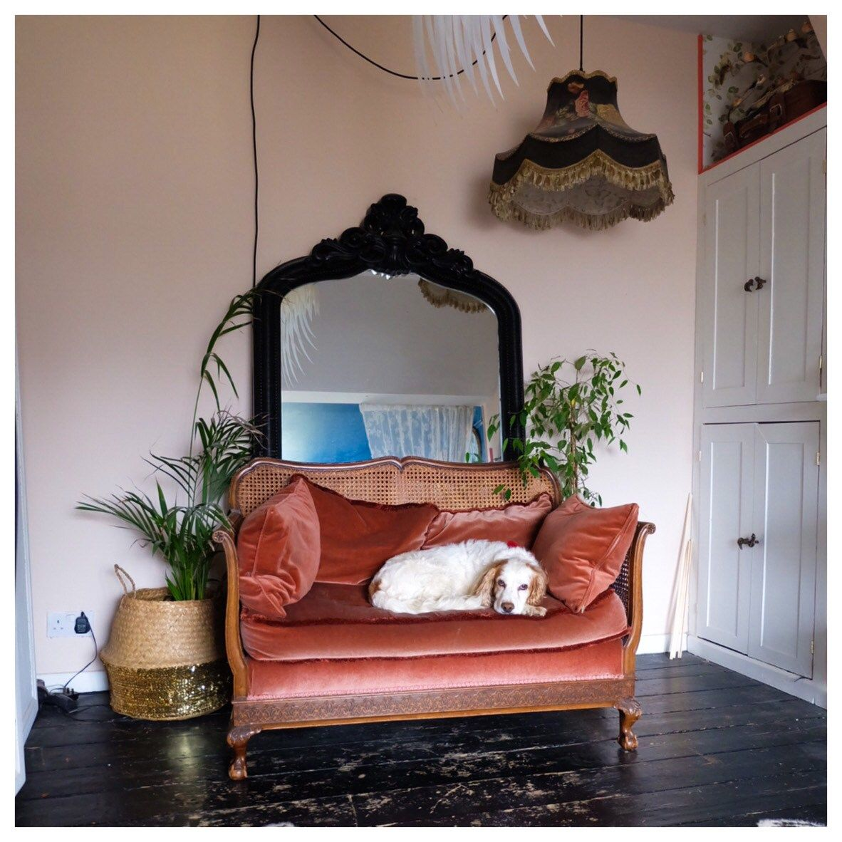 The Creative Eclectic Home of Gold Leaf Queen - Lara Bezzina -vintage furniture finds #livingroom #eclecticinteriors #eclecticlivingroom #eclecticdecor #interiordesign #homedesign #velvetsofa #vintagedecor #vintagefurniture #mirrordecor #interiordecor #homedecor #housetour #eclecticstyle