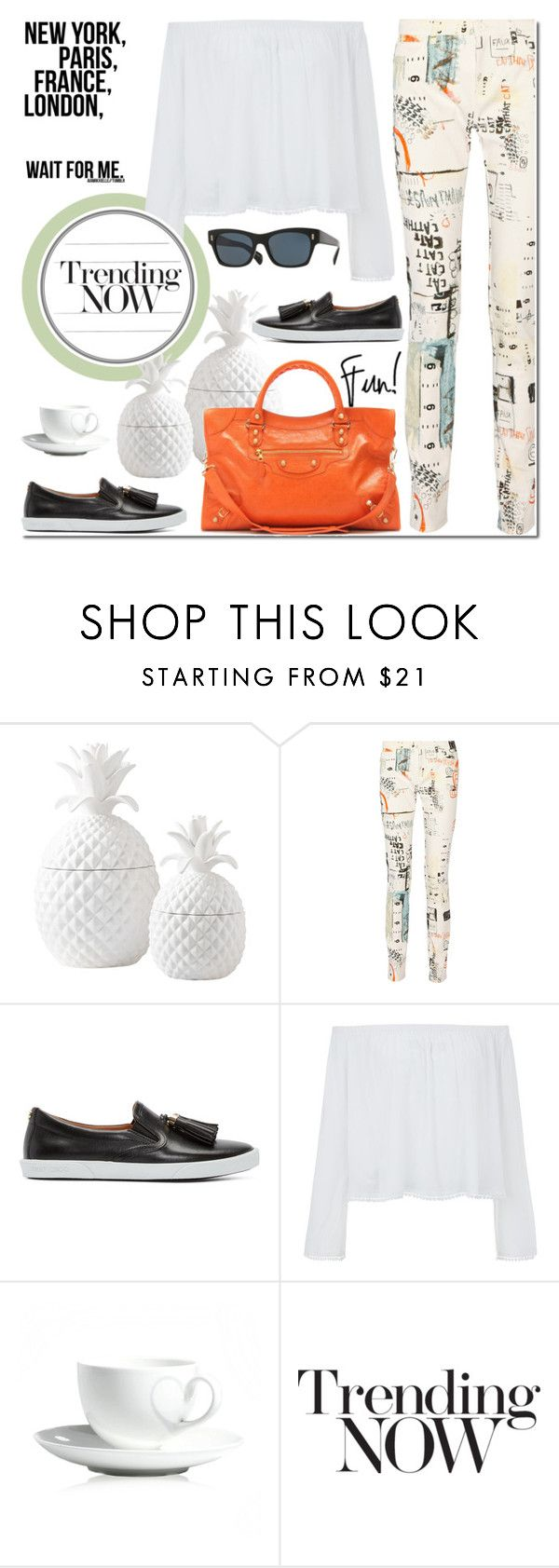 """Untitled #1362"" by elena-777s ❤ liked on Polyvore featuring Dot & Bo, MM6 Maison Margiela, Jimmy Choo, Olsen, Papillon and Balenciaga"
