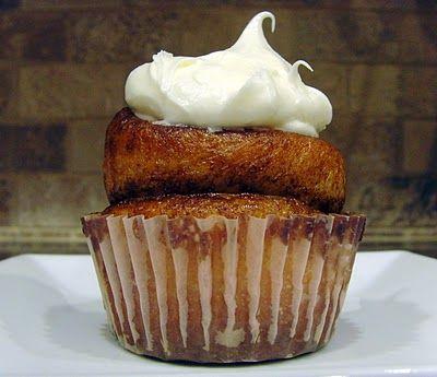 Cinnamon roll cupcakes.  I heart cinnamon!