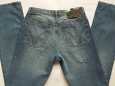 D-G-Dolce-e-Gabbana-jeans-w34-tg-48-strappi-gamba-dritta-usato-blu ... ce86955f7b3