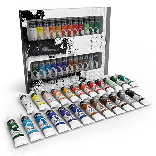 Top 10 Best Acrylic Paint Reviews For Beginners And Advanced Artists Acrylic Paint Set Paint Set Castle Art