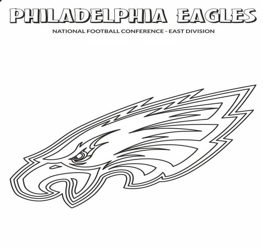 philadelphia eagles coloring pages # 3