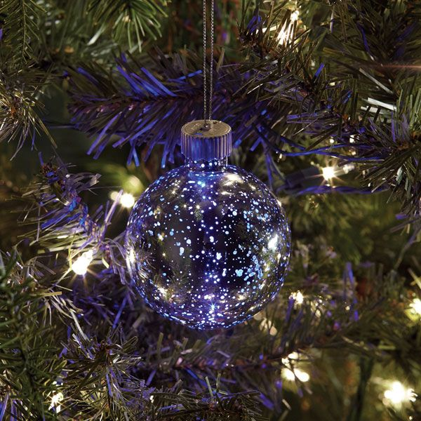 Mercury Glass Ornament with Color-Changing LED - Small at Signals