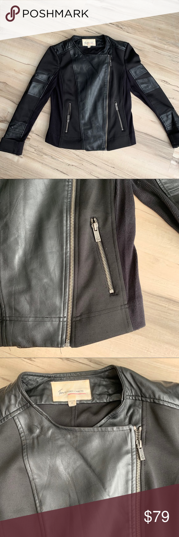 Two By Vince Camuto Black Faux Leather Jacket Black Faux Leather Jacket Faux Leather Jackets Leather Jacket [ 1740 x 580 Pixel ]