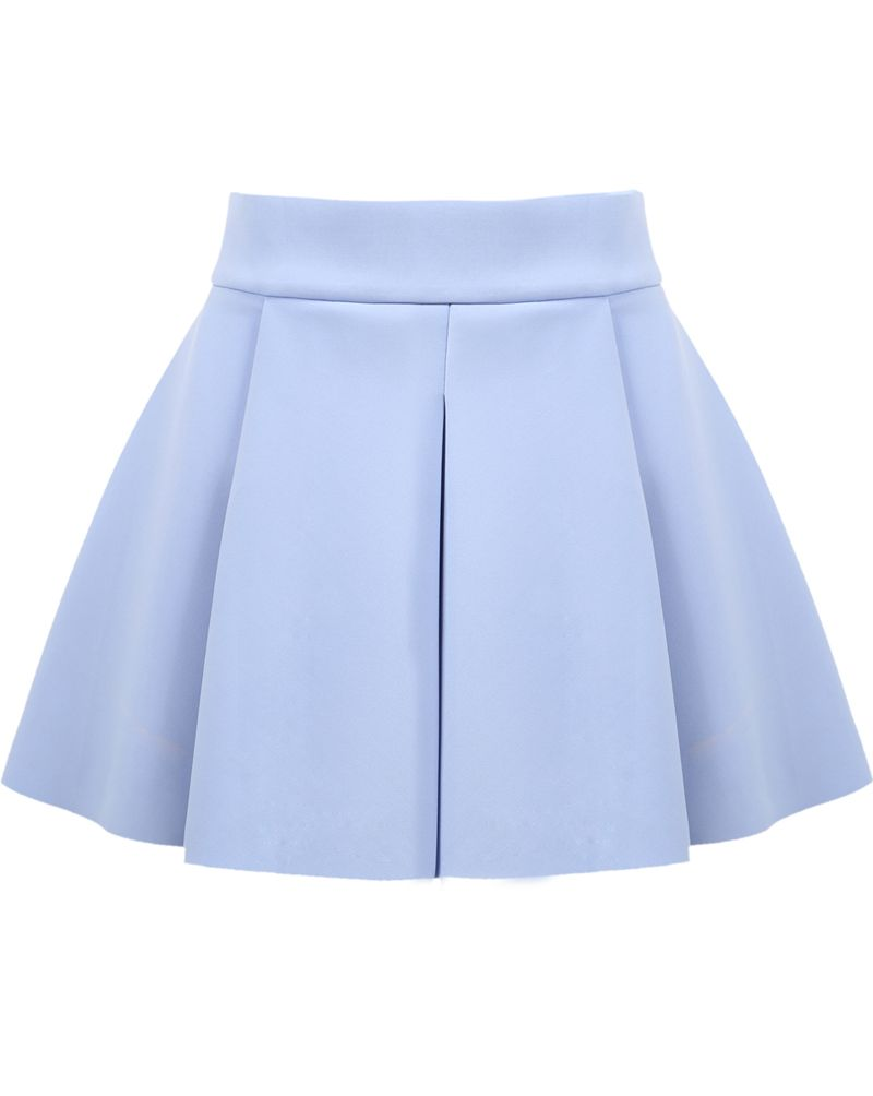 Blue High Waist Ruffle Flare Skirt | Flared skirt, High waist and ...