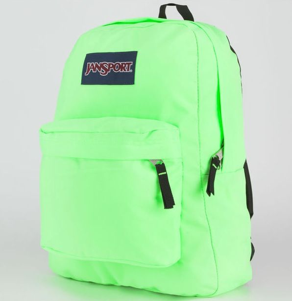 Neon green jansport backpack | My Style in