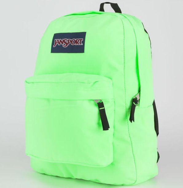 Neon green jansport backpack | Backpacks | Pinterest | Jansport ...