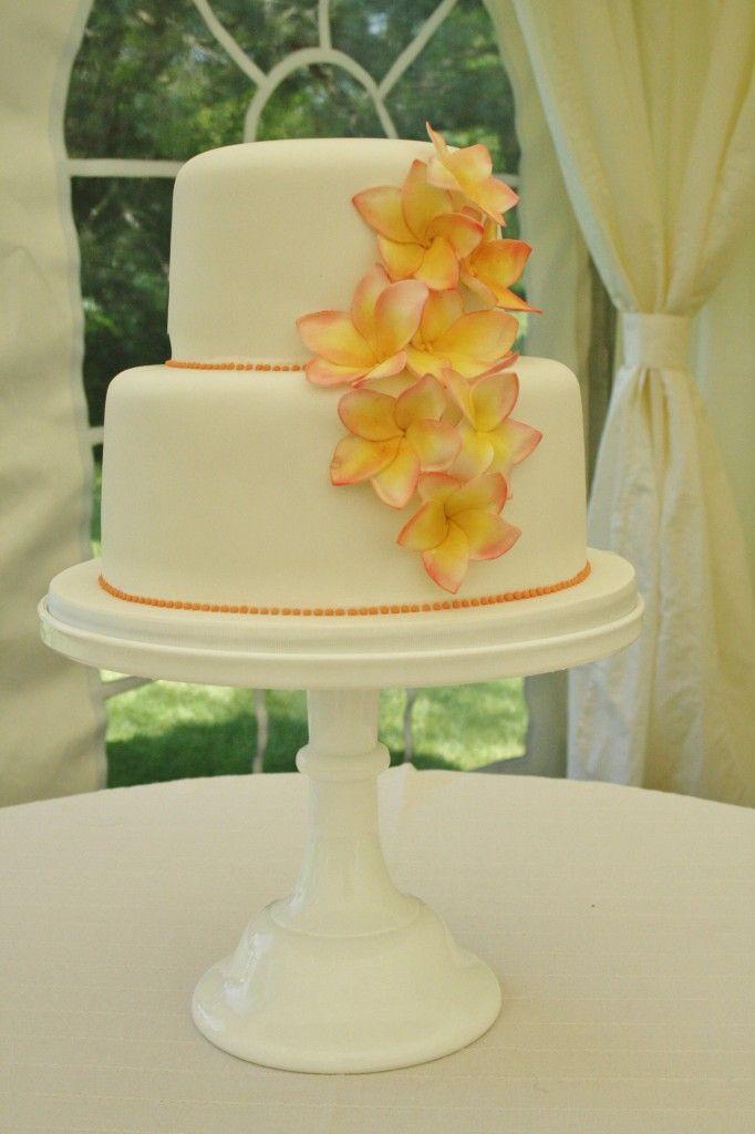 Sylvia\'s Kitchen | Miriam Sugar Frangipani Flowers on two tier ...