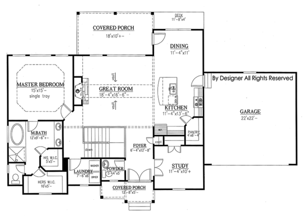 Ranch Style House Plan 3 Beds 2 5 Baths 2303 Sq Ft Plan 437 77 Ranch Style House Plans Floor Plans Ranch House Plans