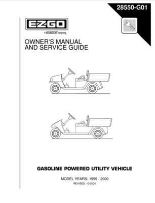 Ezgo 28550g01 Owners Guide Workhorse 1200 And 800g By Ezgo 37 37 Provides Detailed And Thorough Information For The Service And Maintenance Of Your Vehicles