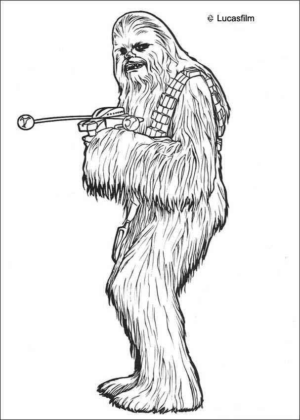 Chewbacca (1) aa coloring pages Pinterest Chewbacca - new new star wars coloring pages