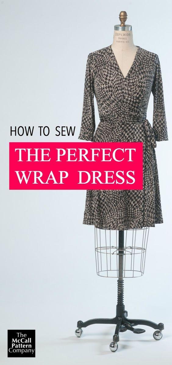 Wrap Dress Sewalong Wrap-Up | Pinterest | Nähanleitung, Nähen und ...
