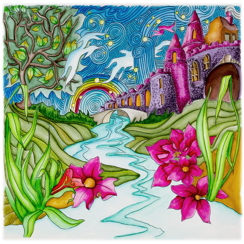 Th the magical city colouring in book - Castle On The Hill From Lizzie Mary Cullen Book Magical City Colored
