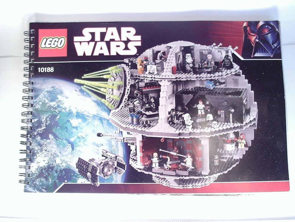 Lego Star Wars Death Star Instruction Manual Only Directions 10188