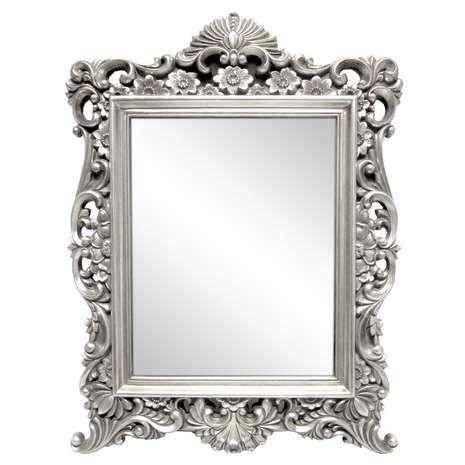 Framed Mirror Wall Ornate Dunelm, Silver Mirror Frame A4