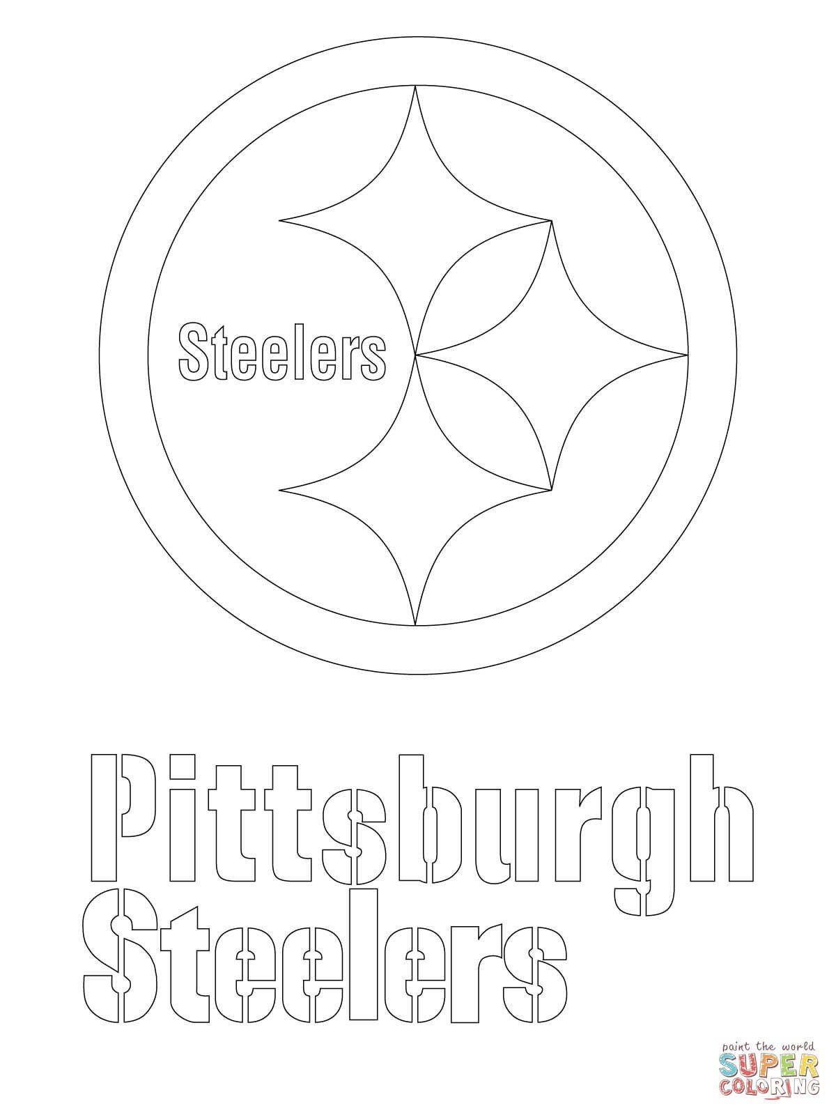 Nfl Mascot Coloring Pages Pittsburgh Steelers Logo Coloring Page