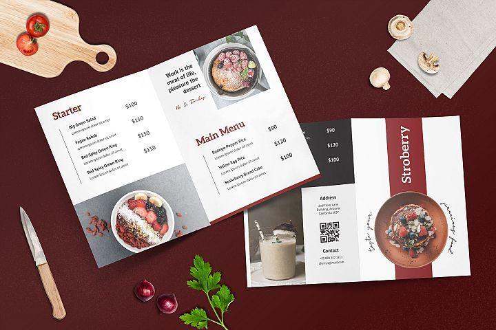 Bifold restaurant menu template 284342 flyers design