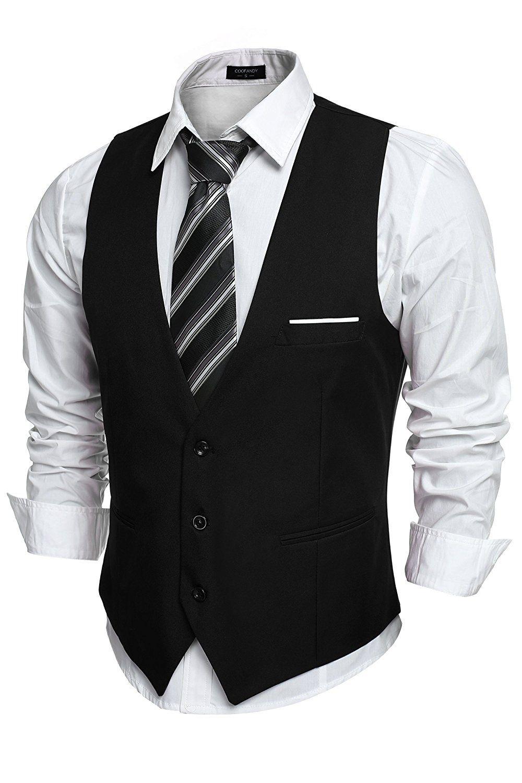 Coofandy Gilet de Costume Homme Veste sans Manche Business Mariage -  Bordeaux - Taille S  160-165cm 55-60kg  Amazon.fr  Vêtements et accessoires 08f10ca1f69