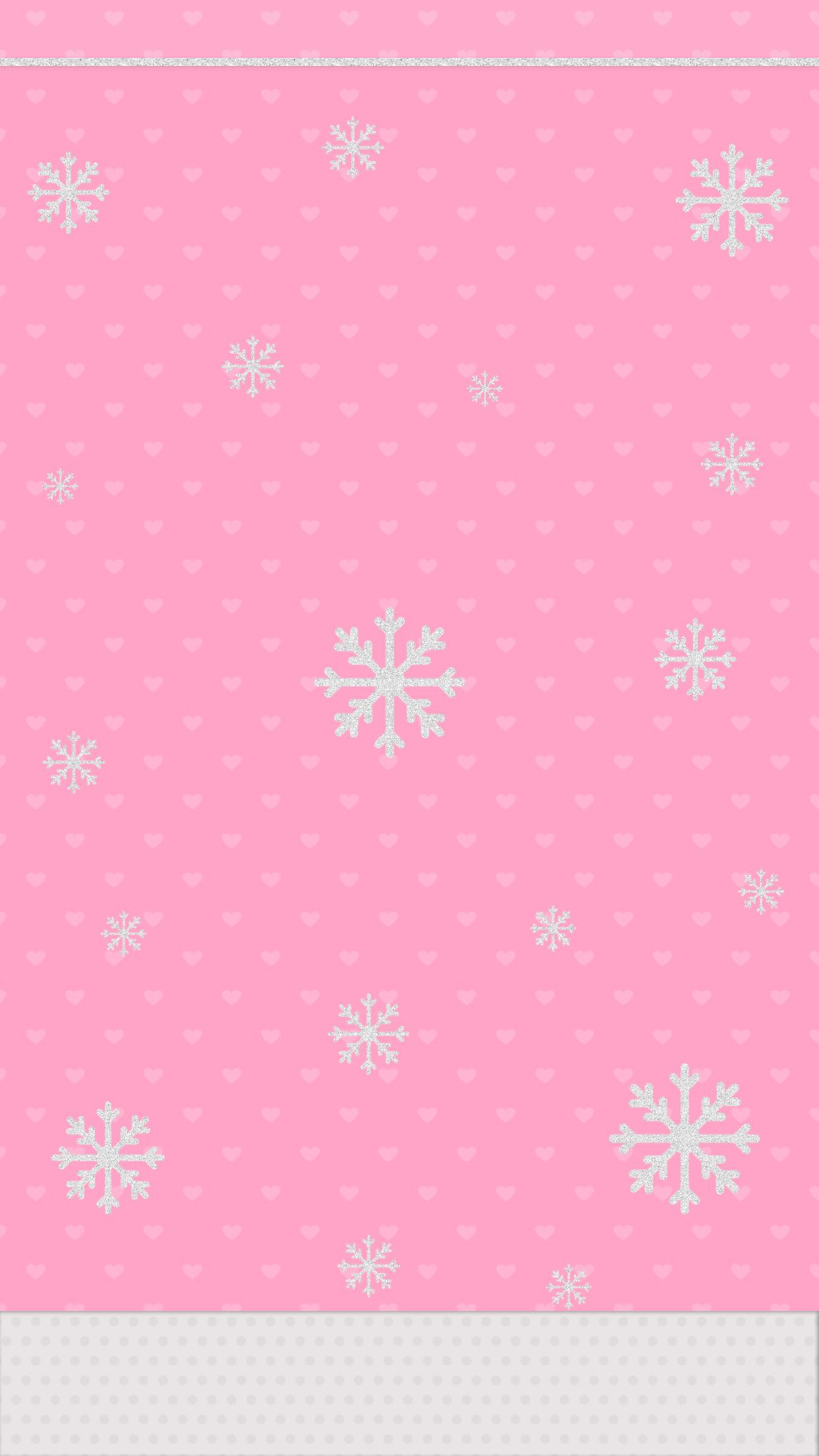 Cute Pink Snowflakes Christmas Wallpaper Christmas Wallpaper Iphone Cute Wallpaper Iphone Christmas Wallpaper Iphone Cute