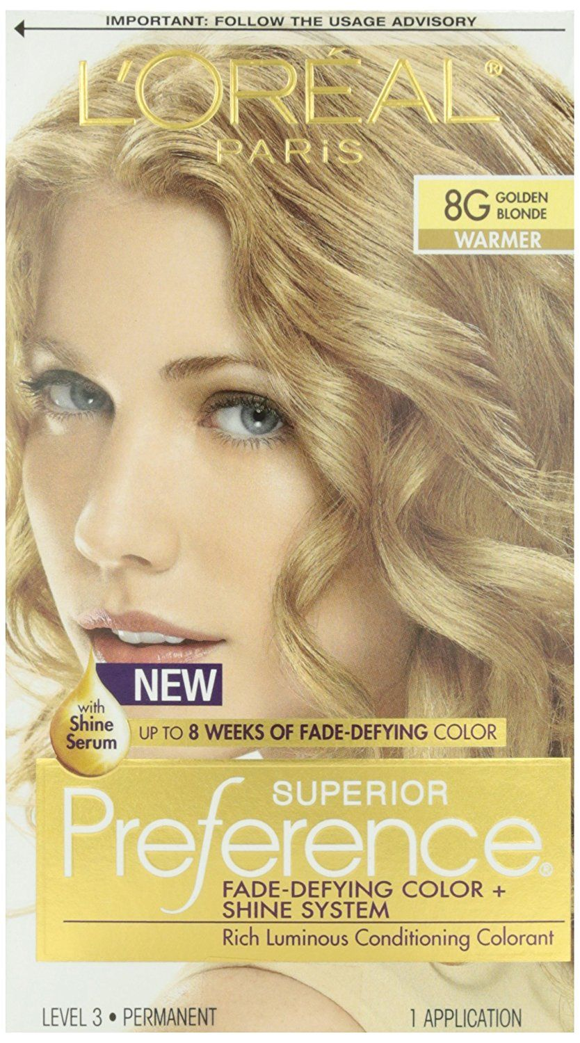L Oreal Paris Superior Preference Color Care System Light Amber Brown 6am Pack Of 3 This Is An Amazon Affiliate Li Golden Blonde Light Hair Color Loreal