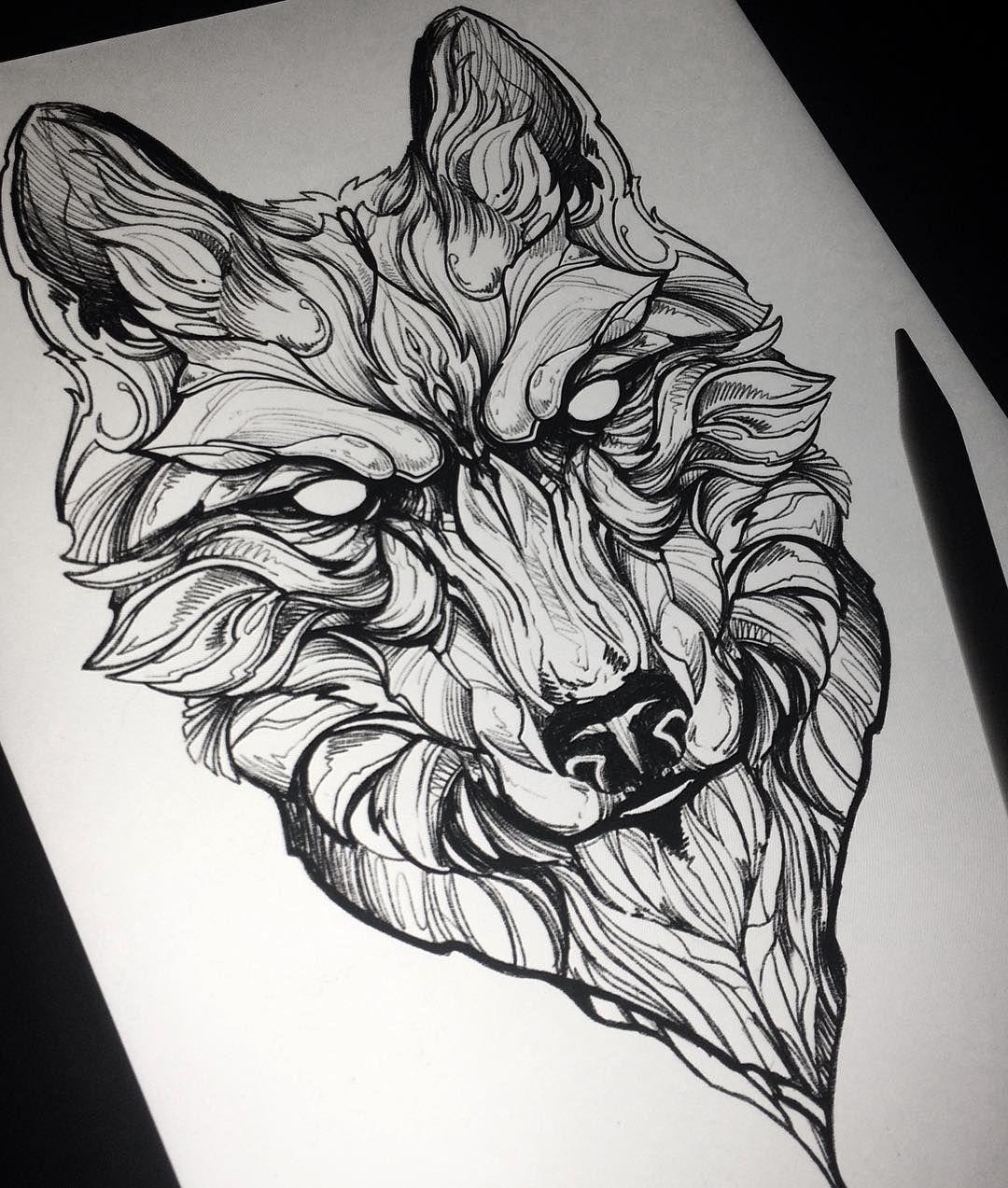 Line Art Wolf Tattoo: Soon!! ___________________________________ #tattoo