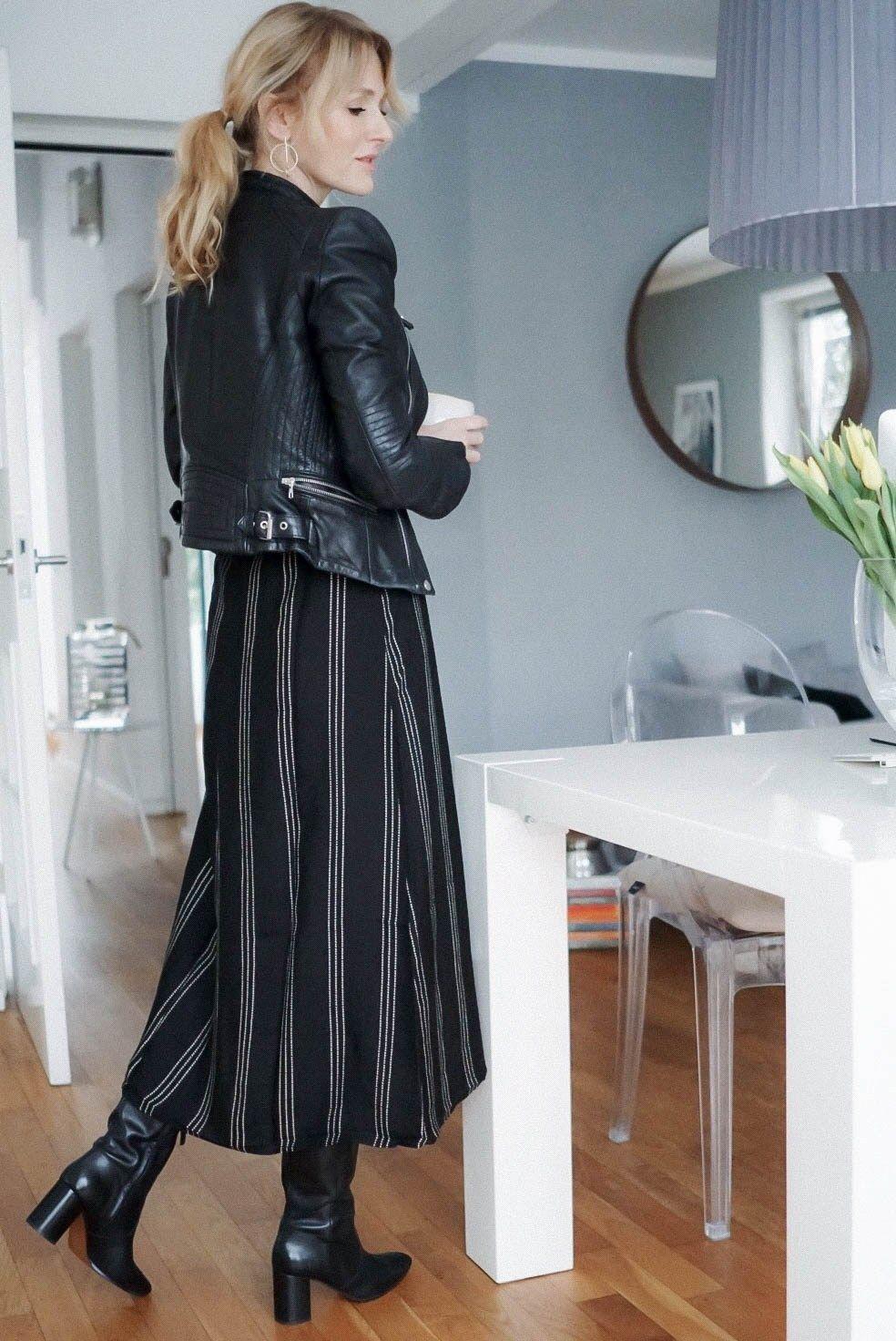 mode kombinieren-midikleid im winter zu stiefeln-kleid von