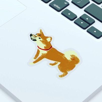 Made a shibainu sticker.  Click on the link in my profile. 柴犬ステッカー作ってみましたプロフィールのリンクからアクセスして左下のStickersのところからどうぞ#shibainu #shiba #dog #chai #tatsurokiuchi #しばいぬ #柴犬 #木内達朗 #print #art #illustration