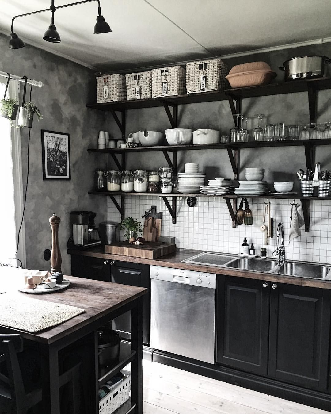 home/mobel   Industrial style kitchen, Industrial decor kitchen, Industrial kitchen design