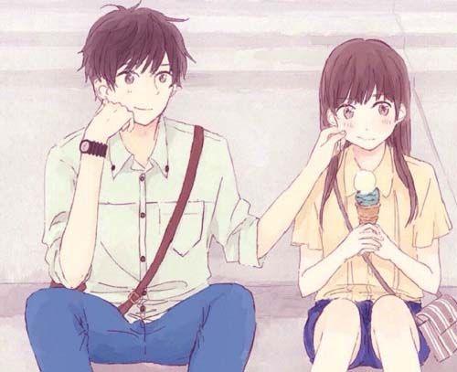 29 Wallpaper Anime Cute Couple Tachi Wallpaper