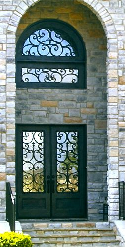 Clark Hall Iron Doors Are Sold At Mcdaniel Window And Door In Florence Al Www Mcdanielwd Com Wrought Iron Doors Iron Doors House Front Door