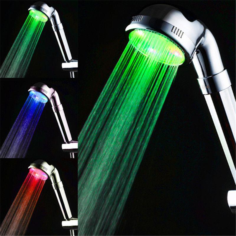 Temperature sensor 3 color Boosty shower head led lights #Affiliate ...