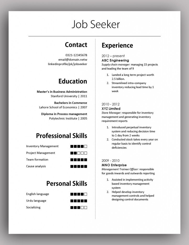 Simple yet Elegant CV Template to get the job done Free