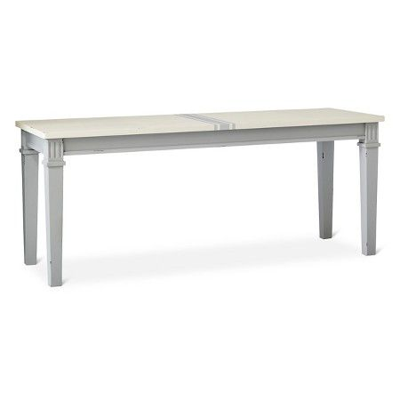 Westville 45 Distressed Dining Bench   Gray   Beekman 1802 FarmHouse